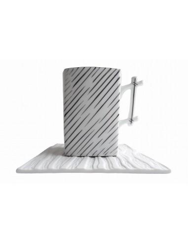 Square mug, Bamboo handle with grey...