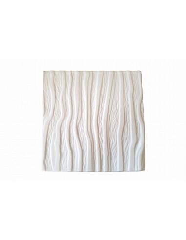 Petit plateau blanc, Collection écorce