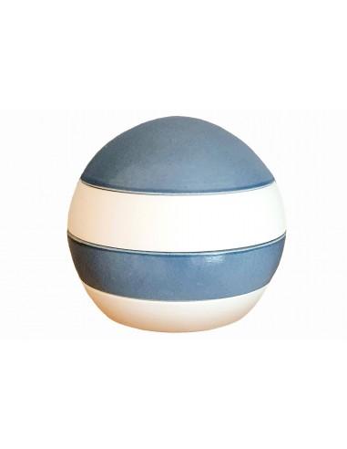 Sphère 4 pièces, blanche et bleu,...