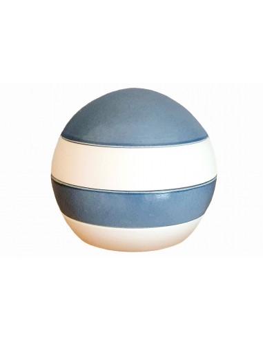 Sphere in 4 pieces, white and blue,...