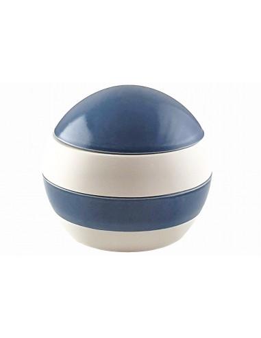 Sphère 4 pièces, blanche et bleu...