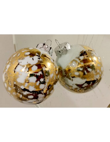 Christmas bauble, Gold Marbled...