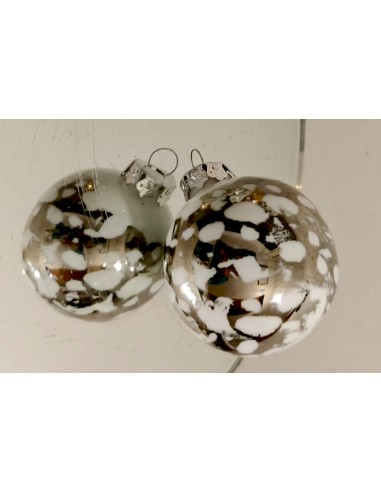 Christmas bauble, Platinum Marbled...