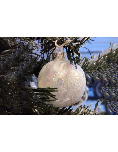 Christmas ball, pearly white