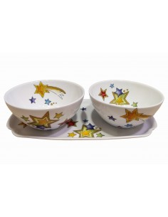 Set of 2 bowls and tray,...