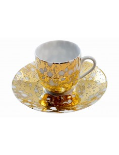 Expresso cup, Marble Gold...