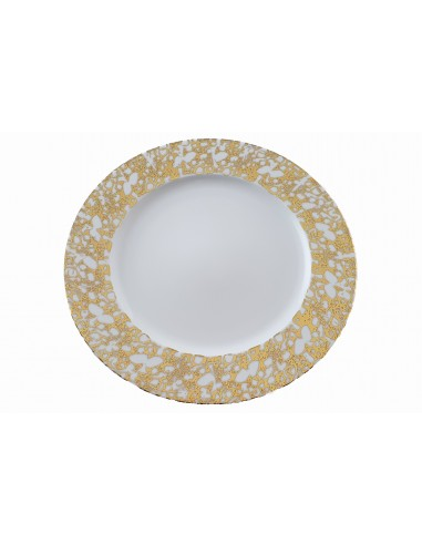 Assiette plate, Collection Marbrée or