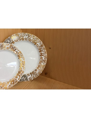 Dessert plate, Gold Marble Collection