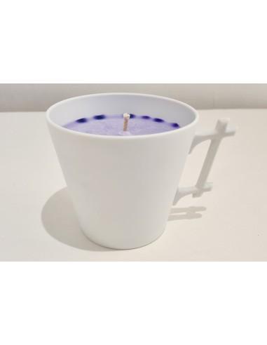 Mug candle, lavender scent