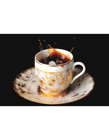 """Expresso cup, """"étoilé Gold"""" collection"""