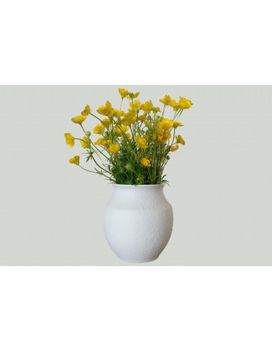 Vase butte white, decor relief with...