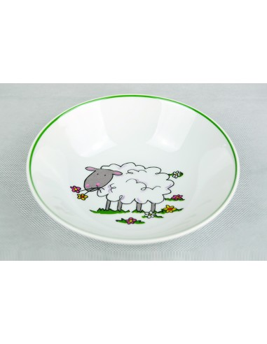 Sheep decor with green line