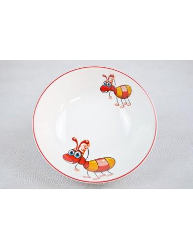 Décor fourmi et filet rouge