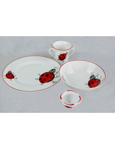 Ladybug decor with red line