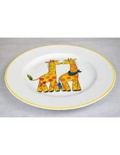 Décor girafe et filet jaune
