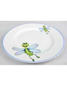 Décor libellule et filet bleu