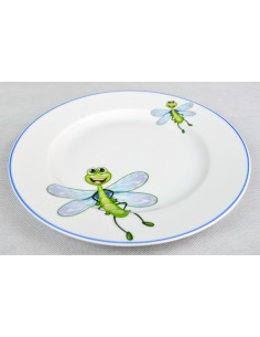 Dragonfly decor with blue line