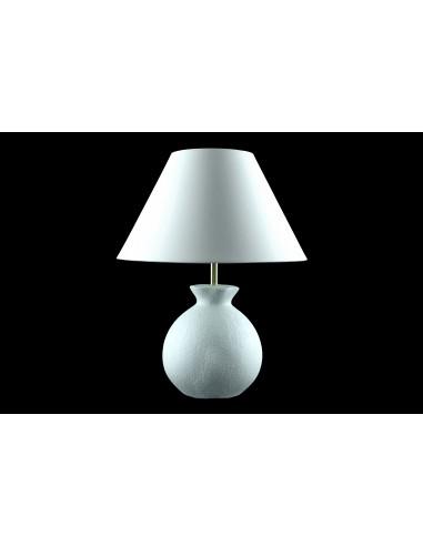 Lampe gabin effet matière blanc