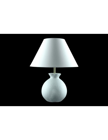 Lamp Gabin, white glazing effect