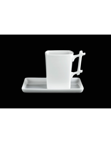 Ensemble mug carré anse Bambou,...