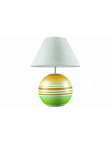 Lampe boule verte et orange