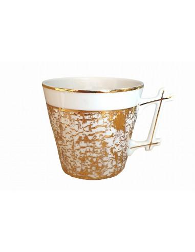 Round mug, bamboo handle, Starry Gold...